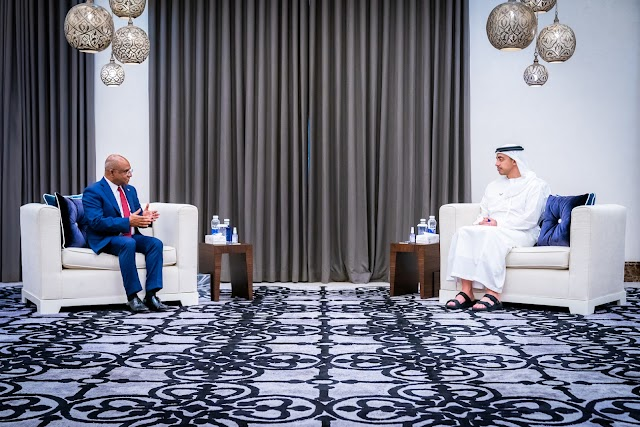 Sheikh Abdullah meets Foreign Minister of the Maldives