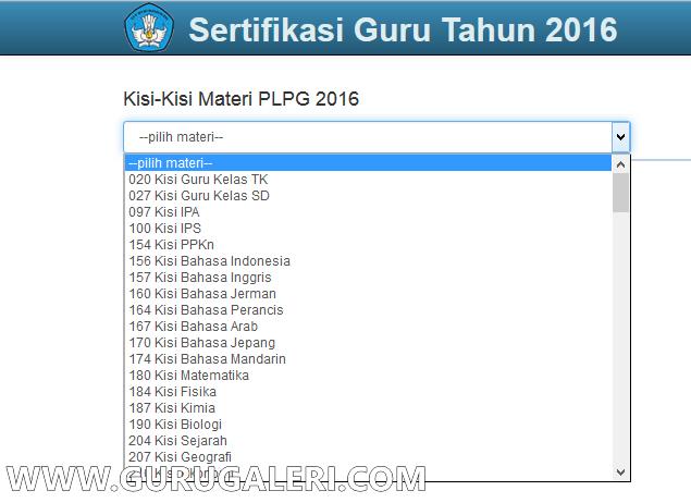 Kisi Kisi PLPG Sertifikasi Guru tahun 2016