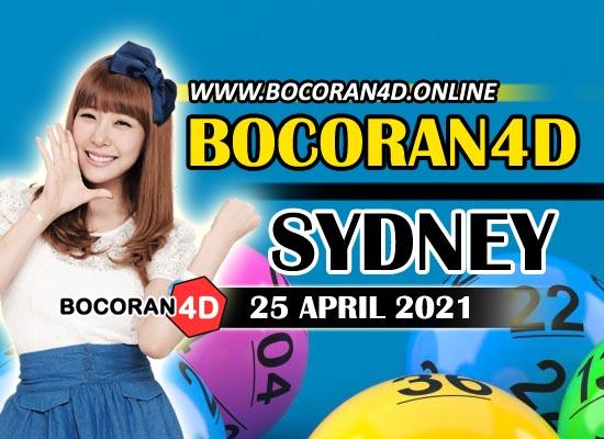 Bocoran Togel 4D Sydney 25 April 2021