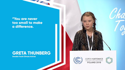 Greta Thunberg(school girl climate change worrier)