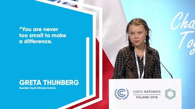Greta Thunberg(school girl climate change worrier)
