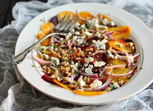 Beautiful Beet Salad with Walnuts and Gorgonzola
