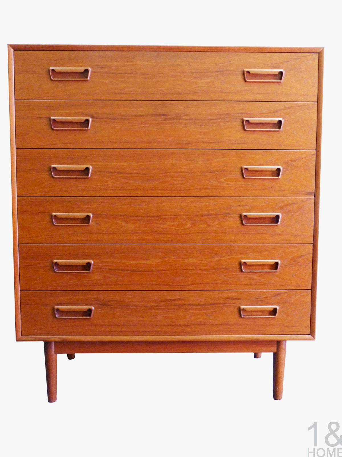 Westnofa Danish Modern Mid-Century six drawer dresser chest