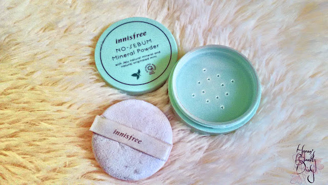 Monthly Project; June 2017 Empties; Innisfree's No-Sebum Mineral Powder