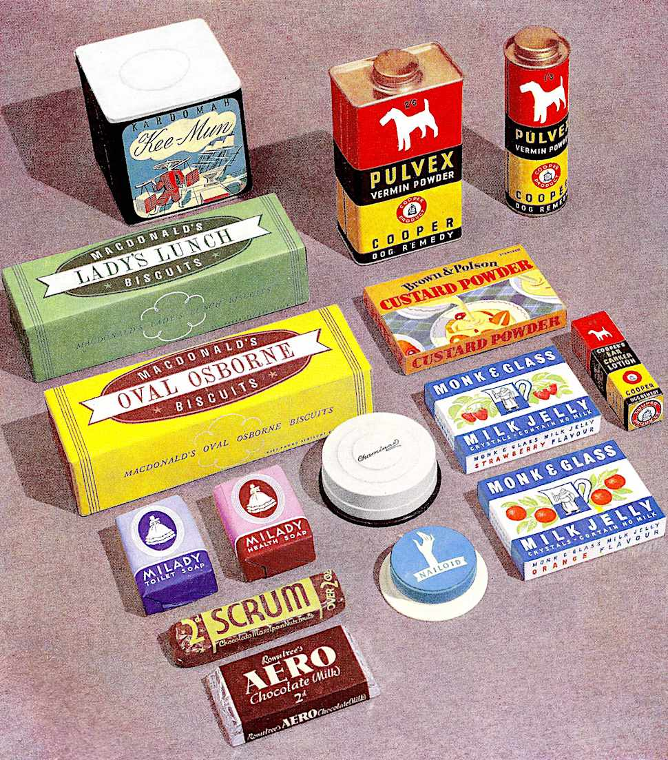 sugar and poison, a 1937 packaging industry illustration