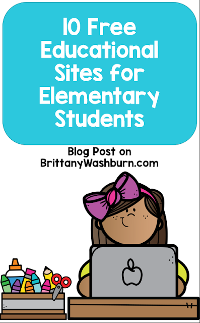 Here are some of the top free educational sites for elementary.  There are so many great resources out there, and so many websites have that one amazing resource that just hits that one standard perfectly.  I've focused here on websites you can let your students roam free on because the entire site is filled with educational gems!
