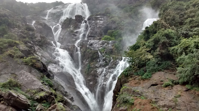 Dudhsagar Waterfalls - Not at its Best