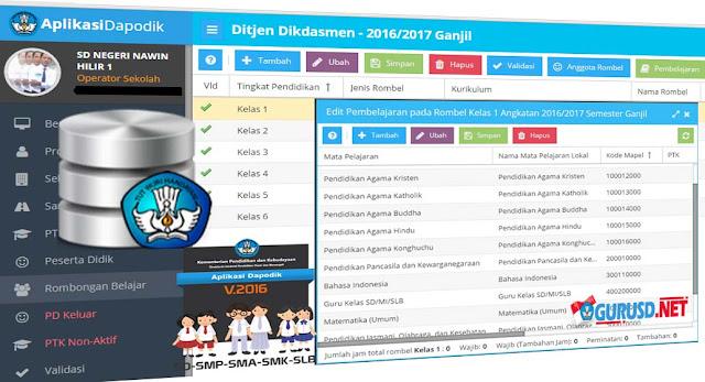 Rambu Rambu Pengisian Pembelajaran Jjm Ktsp Dan Kurikulum 2013 Sd Pada Dapodik Versi 2016