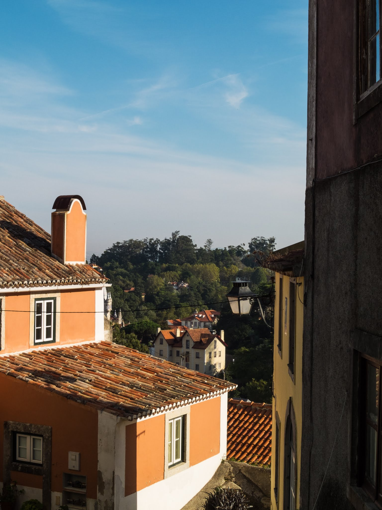 View of buildings and roofs in Sintra, Portugal.
