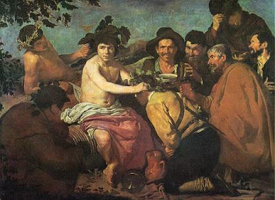 Postal de Museo del Prado, Los Borrachos, Velázquez. Editorial Dominguez.