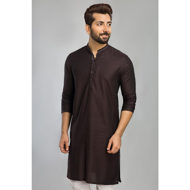 Men's Winter black colour in kurta