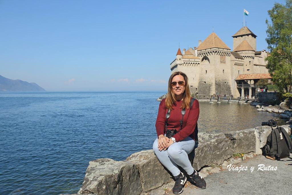 Lago Léman y castillo de Chillon