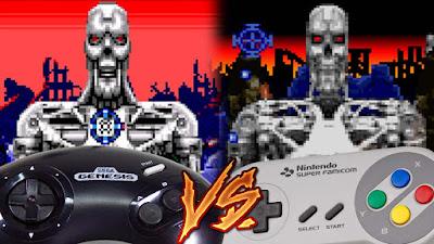 Mega Drive Vs SNES - Terminator 2
