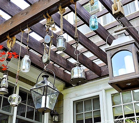 Rope Hanging Lanterns with Pulleys