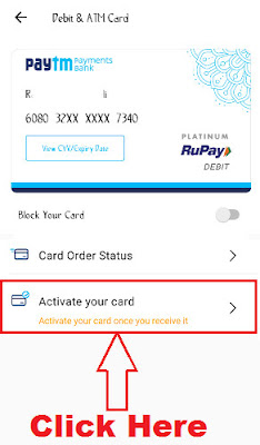 how to set paytm atm card pin online