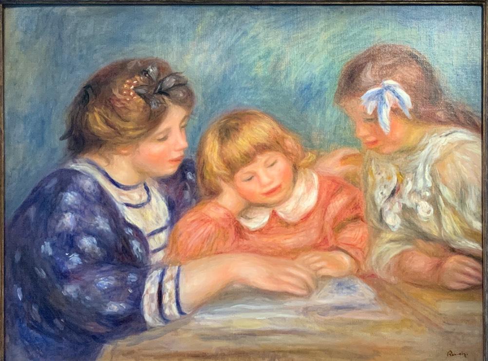Pierre-Auguste Renoir, Lekcja, 1906 rok, kolekcja Nahmad, Muzeum Bonnarda Le Cannet