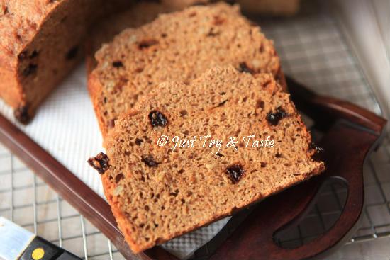 Resep (No Knead) Raisin Whole Wheat Bread JTT