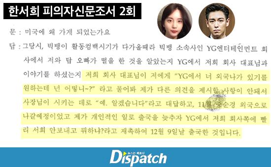Dispatch, Han Seohee ve TOP arasındaki mesajları ifşa etti
