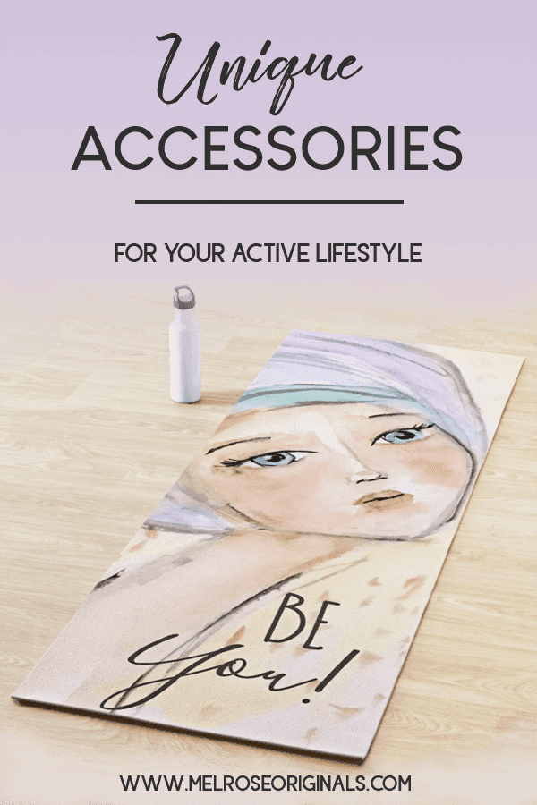 pinnable image of yoga mat from watercolor accessories for your active lifestyle