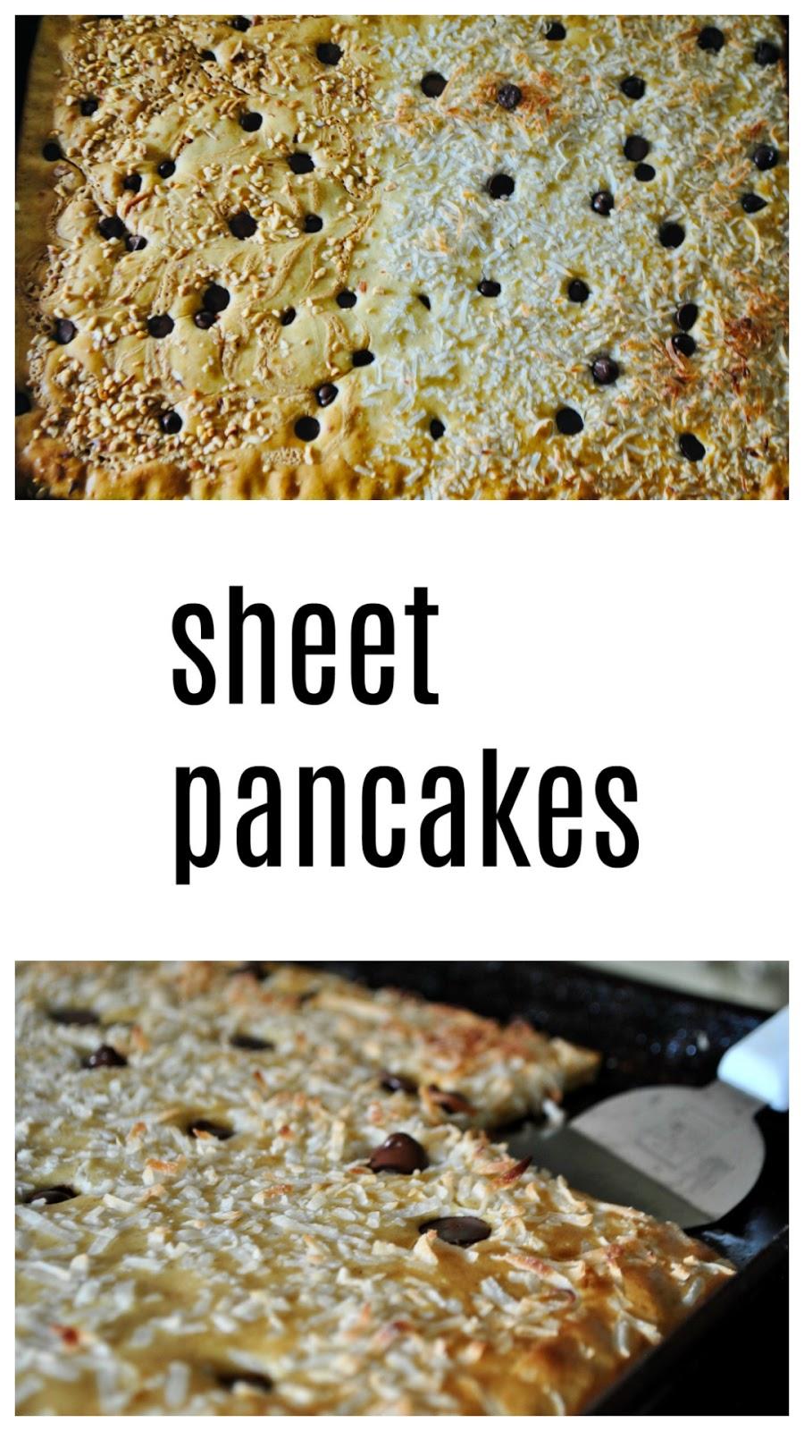 Sheet pancakes, the communal way to eat a pancake breakfast