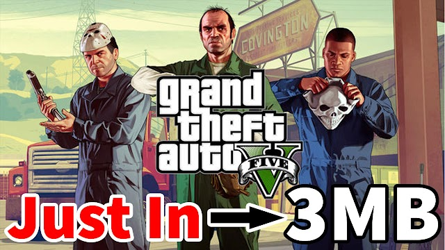 Download GTA 5 In 3MB For PC Fully Highly Compressed Game 100% Working Game