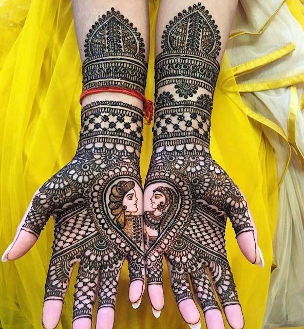 Raja Rani (Dulha-Dulhan) Simple Mehndi Designs