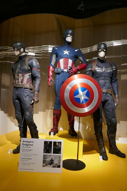 Captain America movie costumes Avengers Endgame