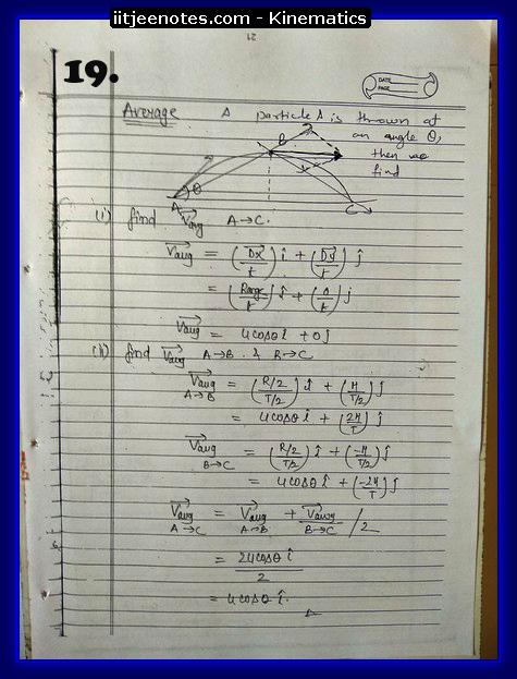kinematics notes cbse3