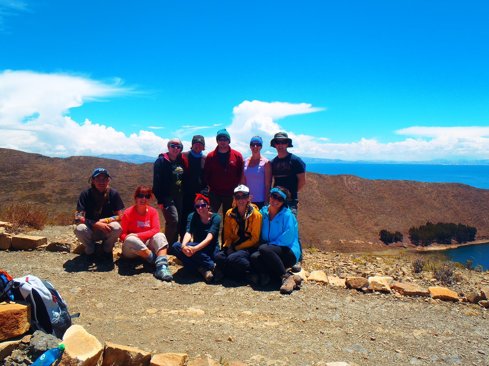 Group on Isla Del Sol Lake Titicaca