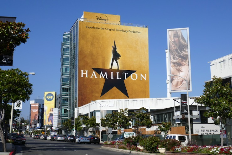 Giant Hamilton film billboard