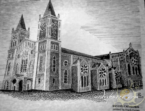Painting of the Baguio Cathedral by German Frank Georg