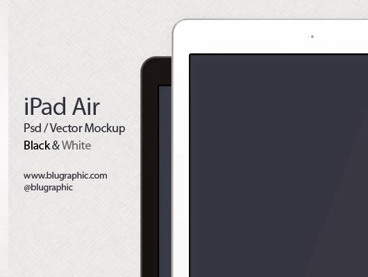 Free PSD iPad Air Mockup