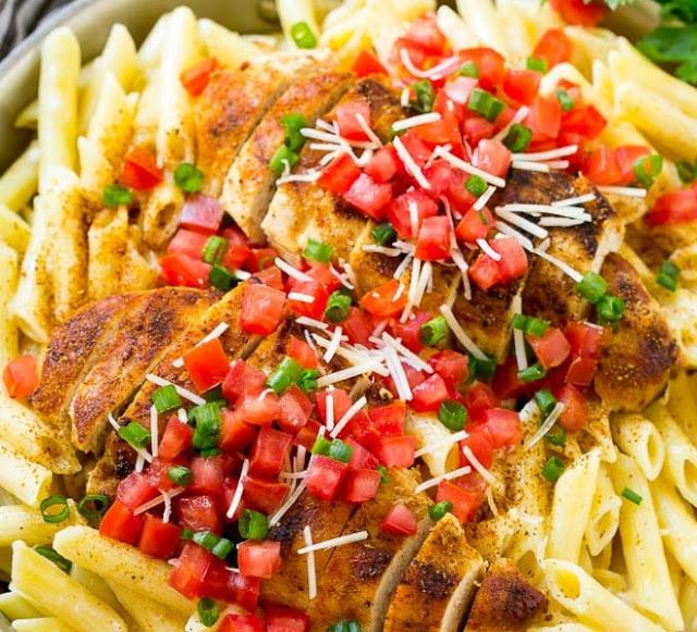 Cajun Chicken Pasta #dinner #pasta