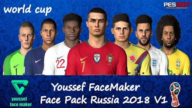 Face Pack WC 2018 Russia 2018 PES 2017