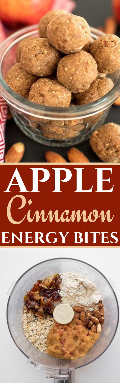 Apple Cinnamon Energy Balls #healthy #breakfast #snacks #keto #vegetarian