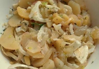 Potato and fennel salad