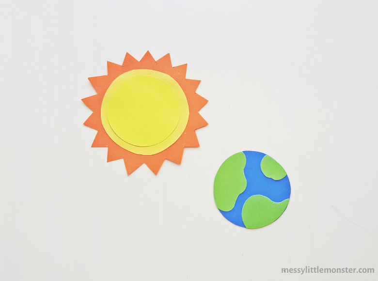 sun and earth paper craft