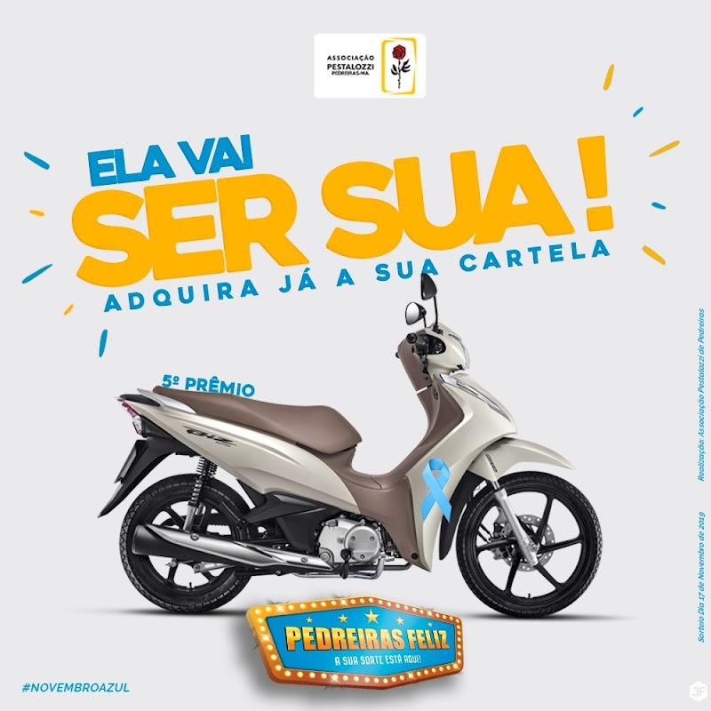 Domingo (17) tem uma moto Honda Biz 125 no Pedreiras Feliz.