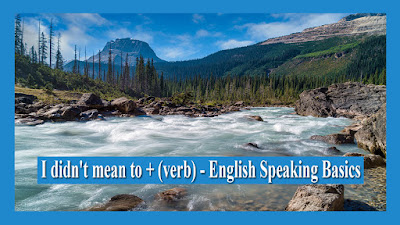 I didn't mean to + (verb) - English Speaking Basics