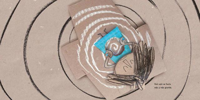 Ilustración del álbum ilustrado Vacío de Anna Llenas