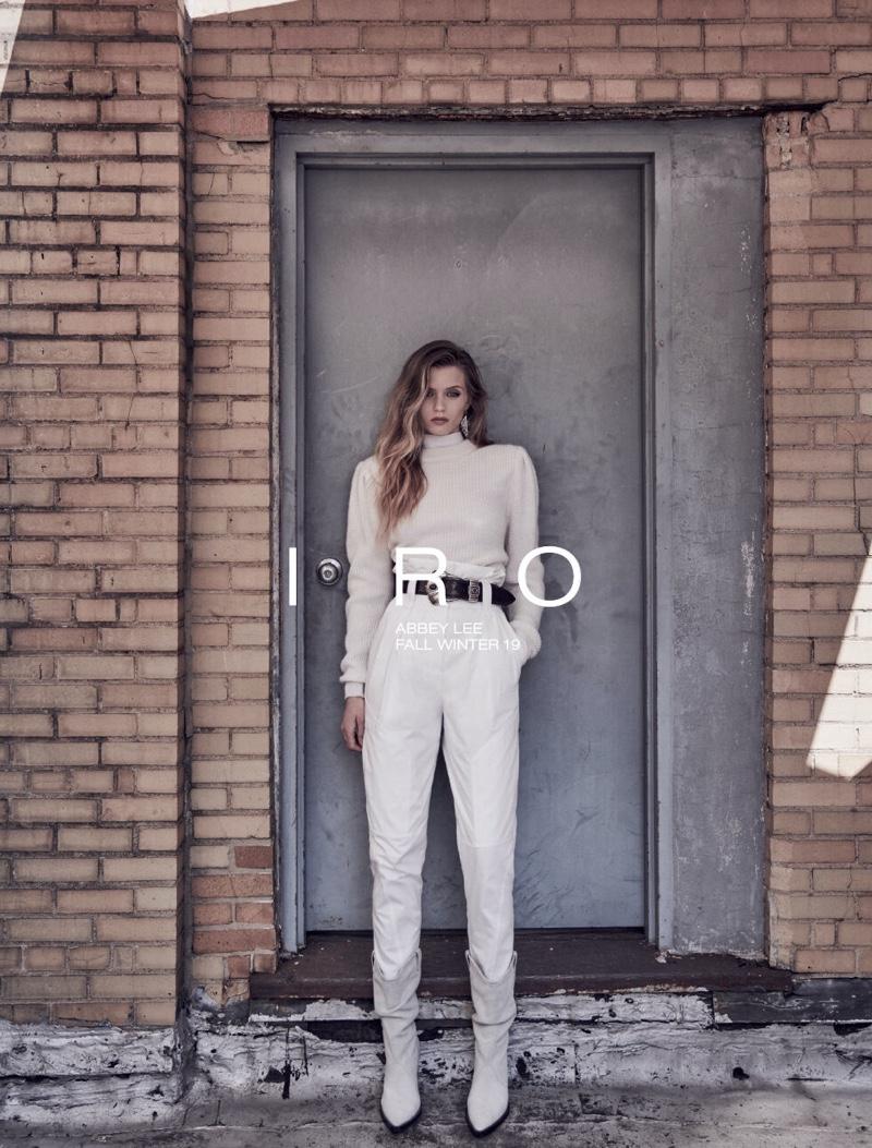Abbey Lee Kershaw appears in IRO fall-winter 2019 campaign