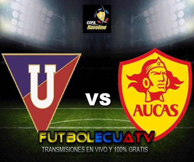 Liga de Quito se mide ante Aucas en vivo a partir de las 19h15 horario designado por la FEF a jugarse en el reducto Rodrigo Paz Delgado siendo el último cotejo de la jornada cuatro del campeonato ecuatoriano, siendo el árbitro principal Guillermo Guerrero con transmisión del canal oficial GolTV.
