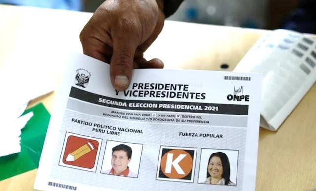 Elecciones Perú 2021, resultados ONPE al 100%