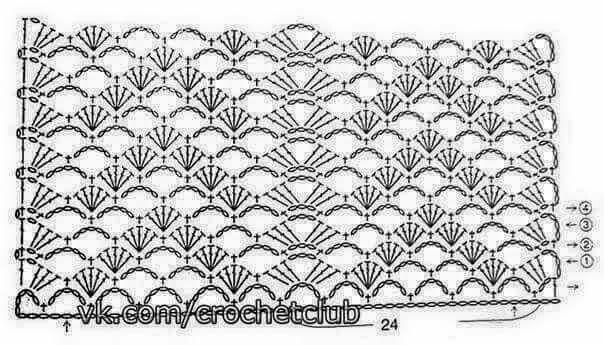 Patron ganchillo crochet Crochet Imagen Puntada muy fácil para blusas y jerseys por Majovel Crochet
