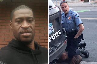 George Floyd Nefes alamıyorum diyerek ırkçı bir polisin dizinin altında can verdi.