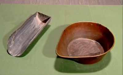 Pan and Scoop used in Sieve analysis of fine aggregates