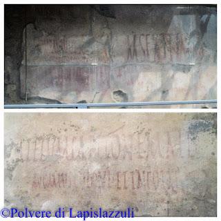 scritte sui muri rinvenute nella Pompei antica