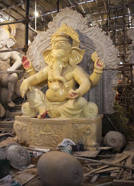ganesha, idol, festival, mumbai, maharashtra, india, parel, studio, india,