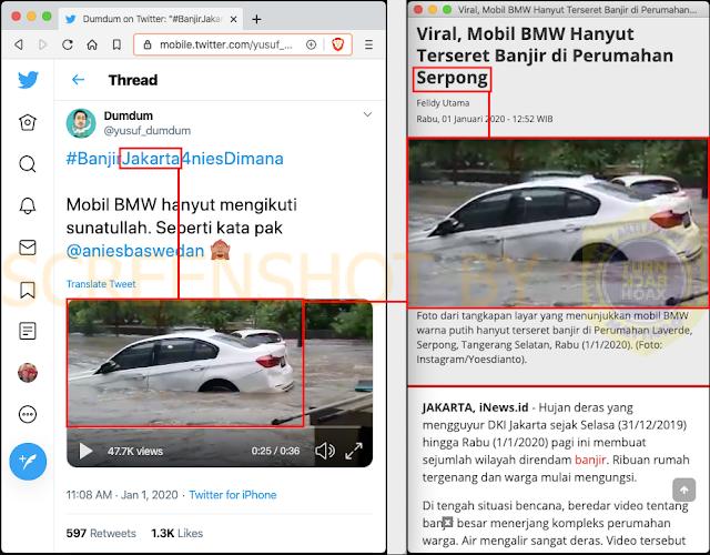 Maksud Hati Ingin Nyinyir Pak Anies, Ternyata Video Banjir Yang Dibagikan Tusuf Dumdum Di Tagerang Banten