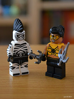 the lego batman movie - killer croc tail-gator: zebra man and tarantula